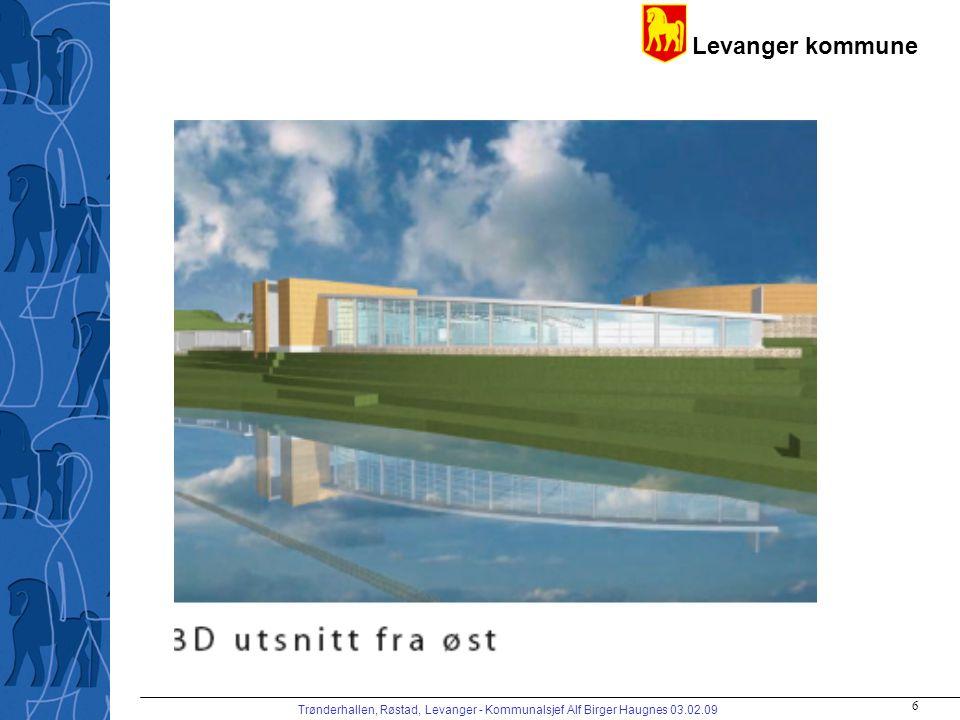 Levanger kommune Trønderhallen, Røstad, Levanger - Kommunalsjef Alf Birger Haugnes 03.02.09 7 IDRETTSHALL
