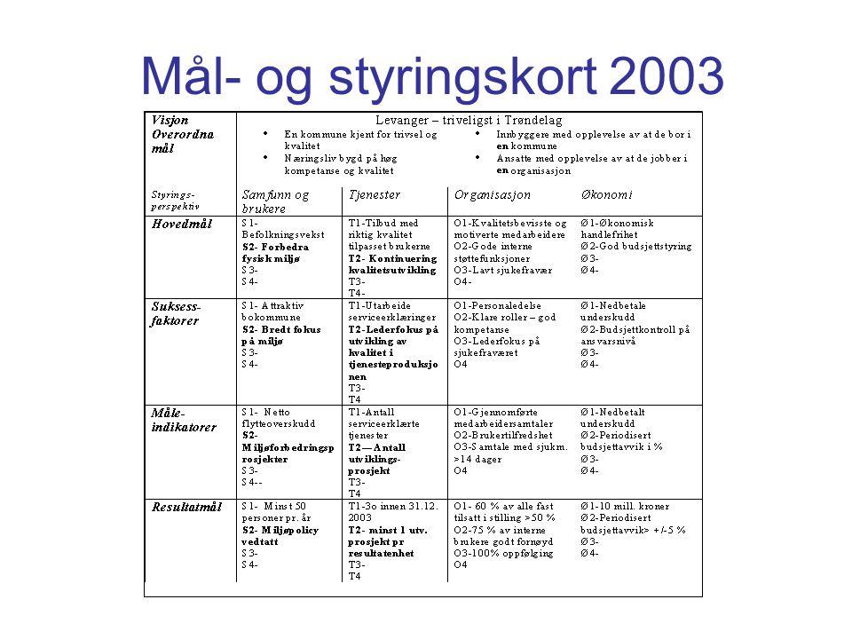 Mål- og styringskort 2003