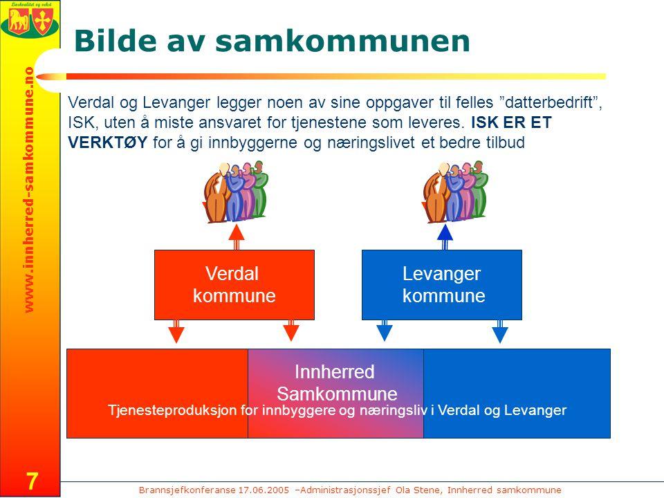 Brannsjefkonferanse 17.06.2005 –Administrasjonssjef Ola Stene, Innherred samkommune www.innherred-samkommune.no 8 Hva.