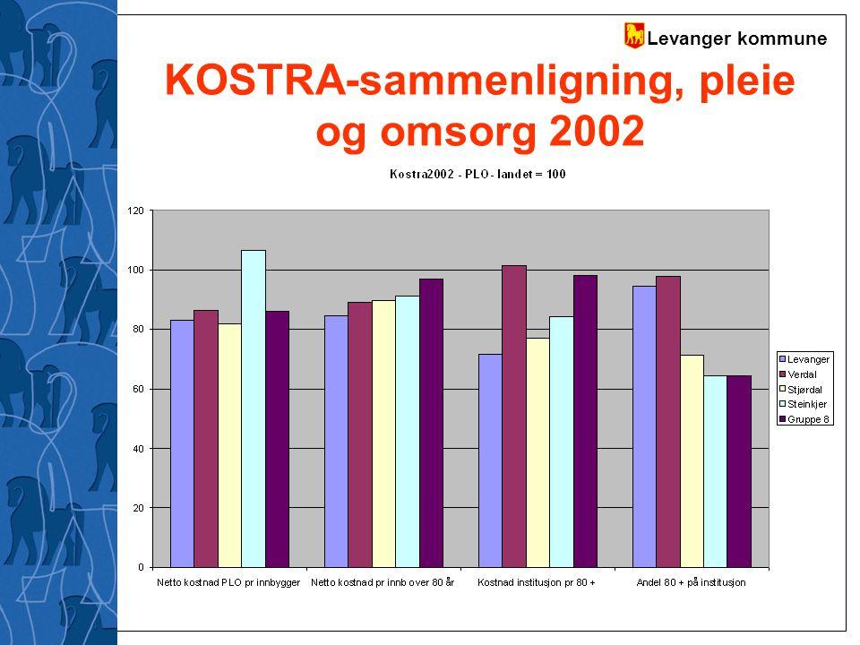 Levanger kommune KOSTRA-sammenligning, pleie og omsorg 2002