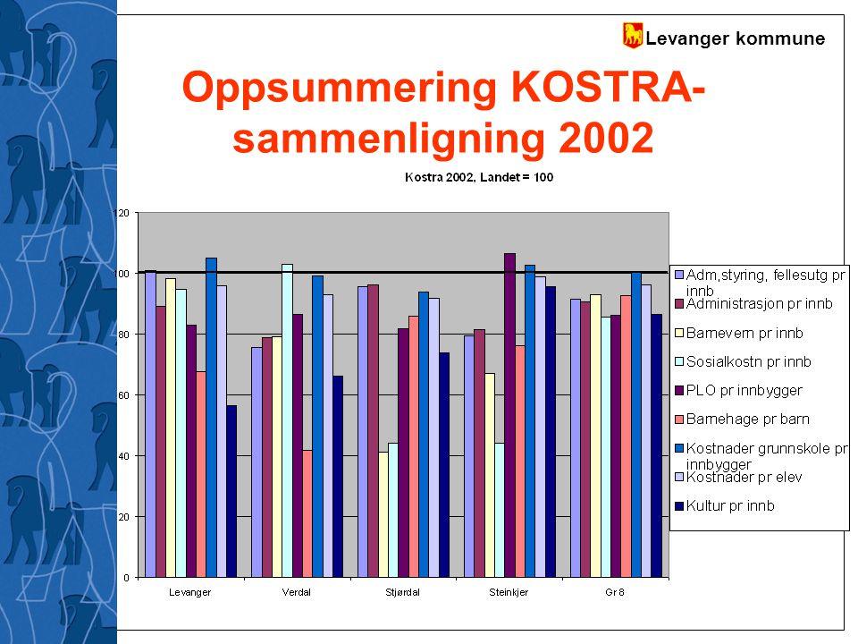 Levanger kommune Oppsummering KOSTRA- sammenligning 2002