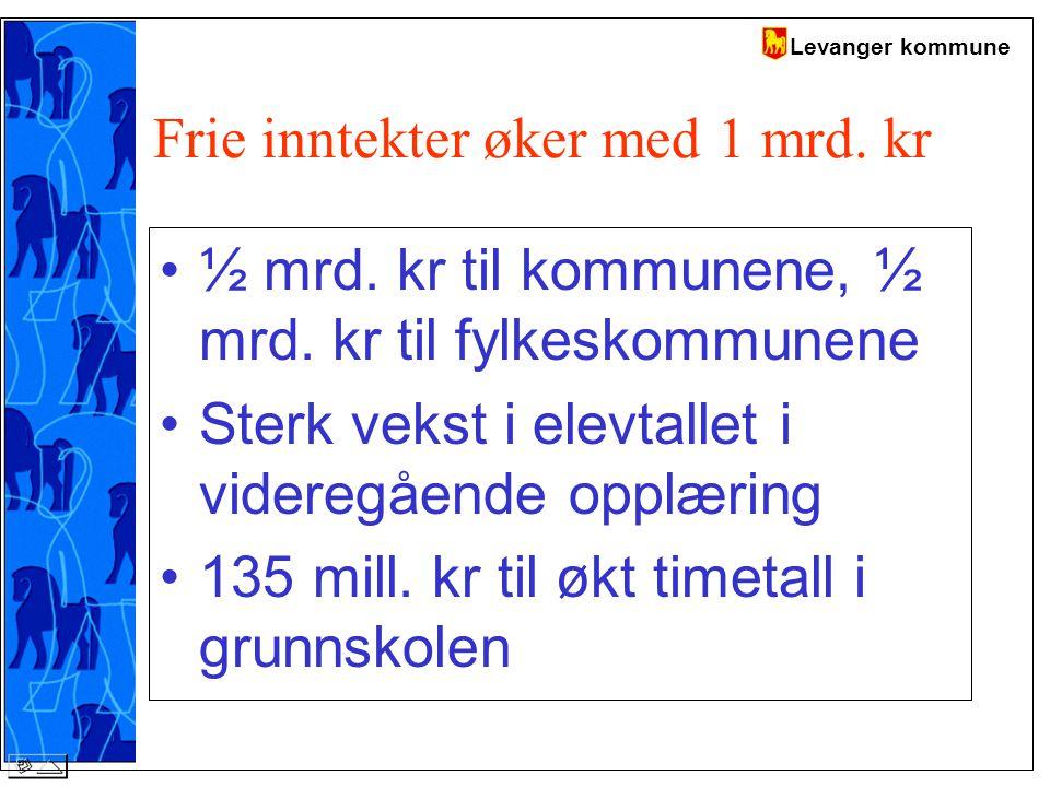 Levanger kommune Frie inntekter øker med 1 mrd. kr ½ mrd.