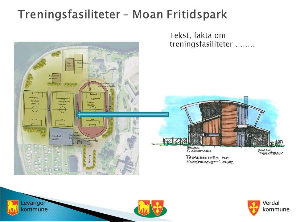 Treningsfasiliteter – Moan Fritidspark Tekst, fakta om treningsfasiliteter………