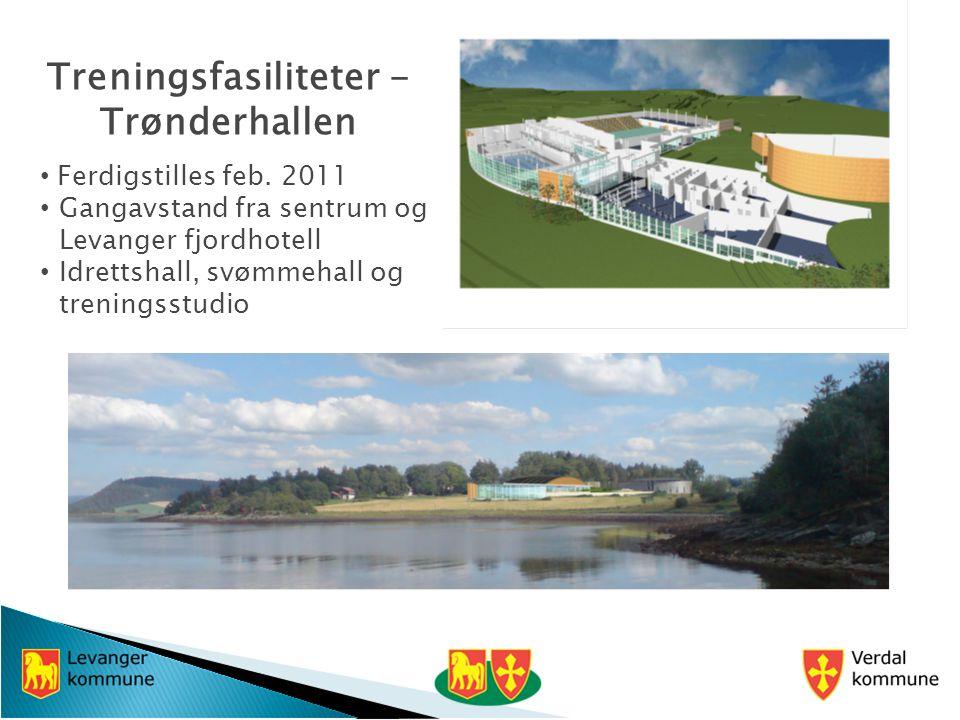 Treningsfasiliteter - Trønderhallen Ferdigstilles feb.