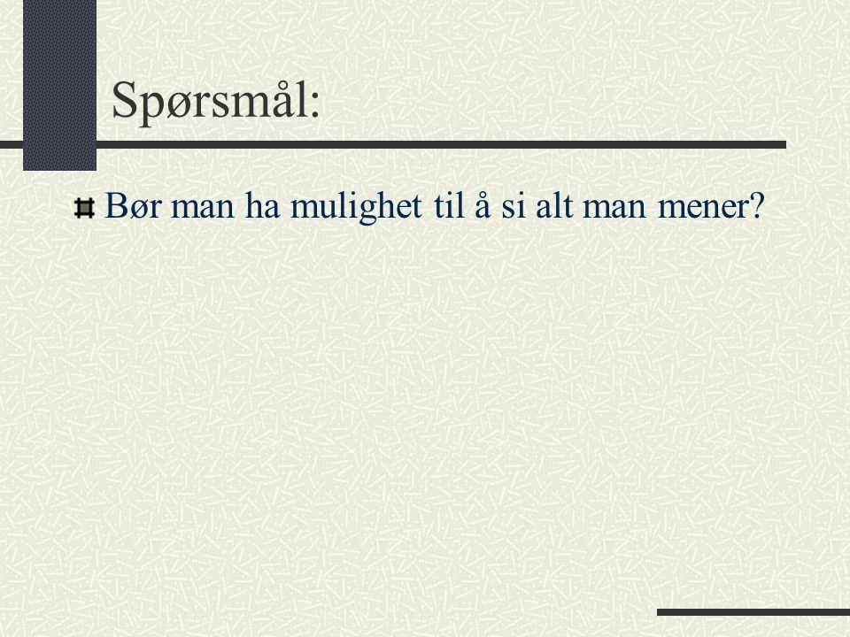 Viktige tenkere – Montesquieu (1689 – 1755) Maktfordelingsprinsippet: skille den lovgivende, utøvende og dømmende makten.