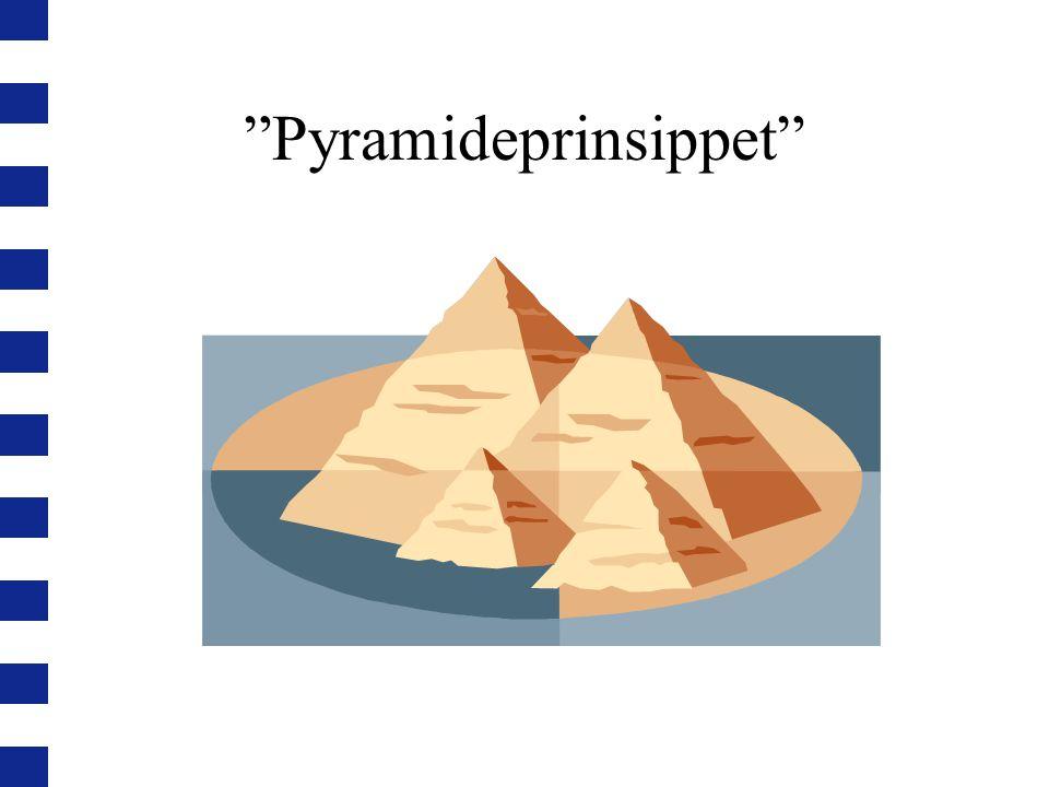 Pyramideprinsippet