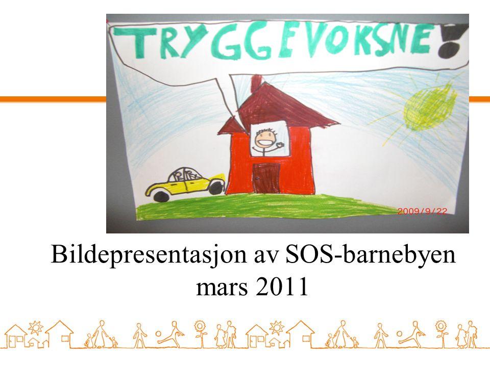 Fakta om SOS-barnebyen Ligger i Olsvik/Laksevåg i Bergen 8 individuelle familiehus Plass til opptil 32 barn ved full kapasitet Felles gymsal, musikkrom, bibliotek og kafè 3 lekeplasser og 1 grillplass Gåavstand til 2 lokale barneskoler, samt handlesenter.