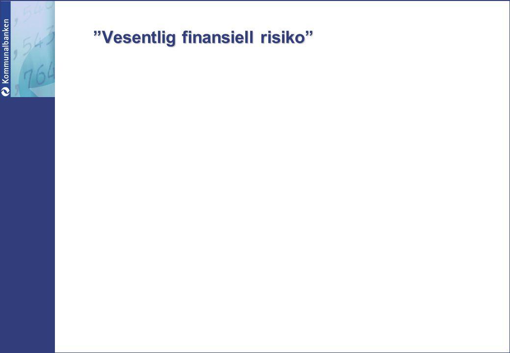 """Vesentlig finansiell risiko"""
