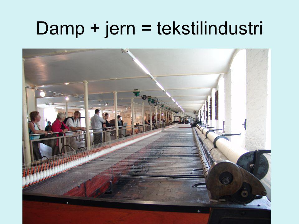 Damp + jern = tekstilindustri