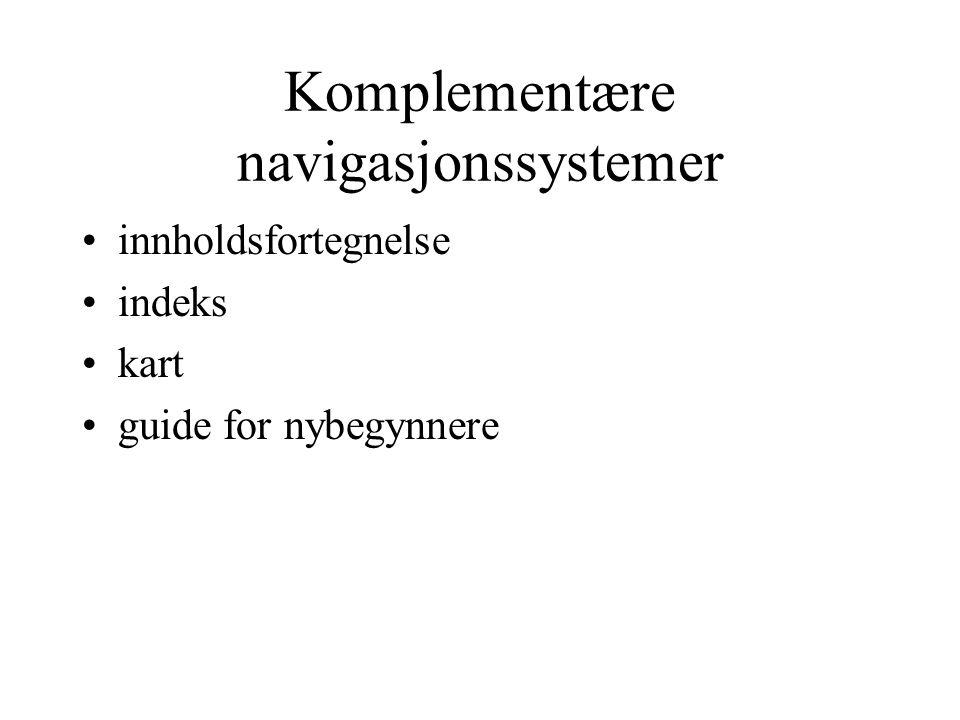 Komplementære navigasjonssystemer innholdsfortegnelse indeks kart guide for nybegynnere