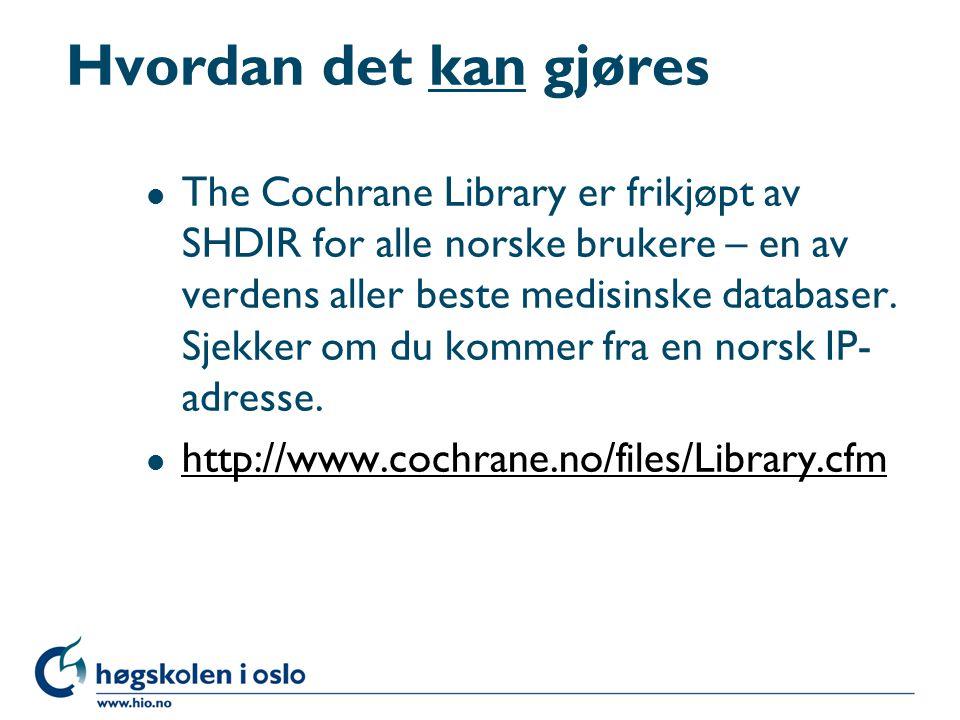Bibliotekenes framtid l Lex armlengde – man er interessert i de bøker man har innen armlengdes avstand.