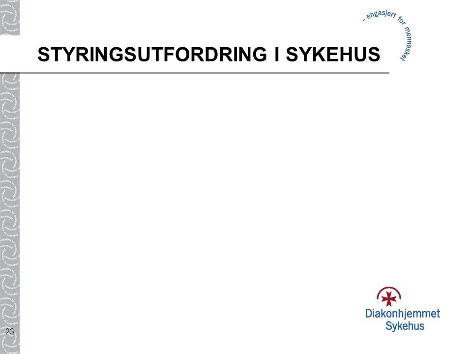 23 STYRINGSUTFORDRING I SYKEHUS