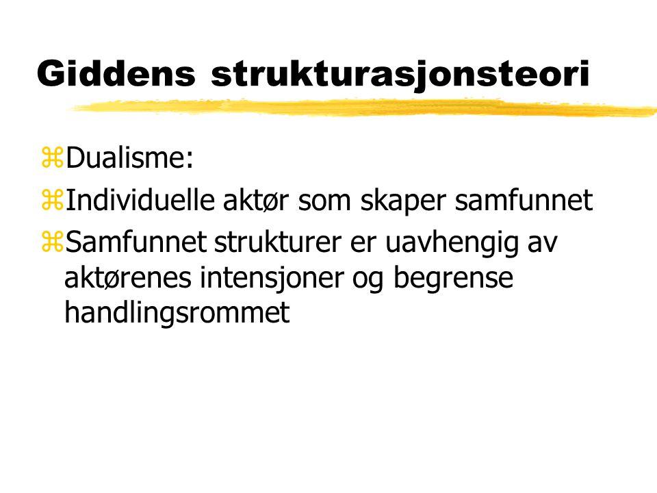 Giddens strukturasjonsteori zStrukturasjon.