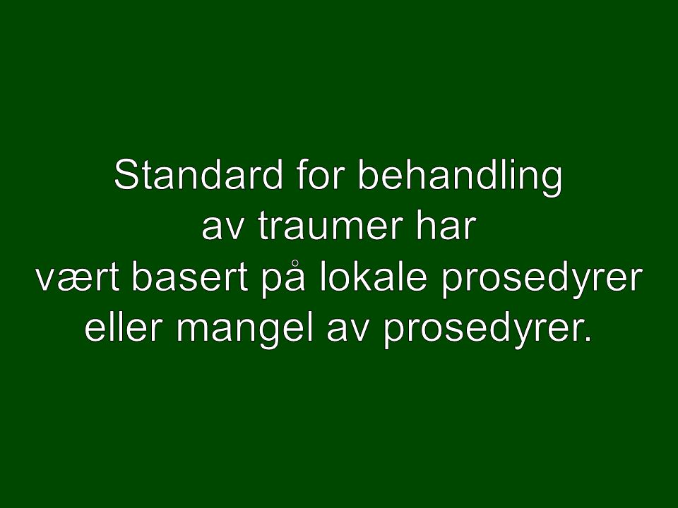 Primærundersøkelse: Airway Breathing Circulation Disability Expose Kjell Otto, ambulanse Oslo