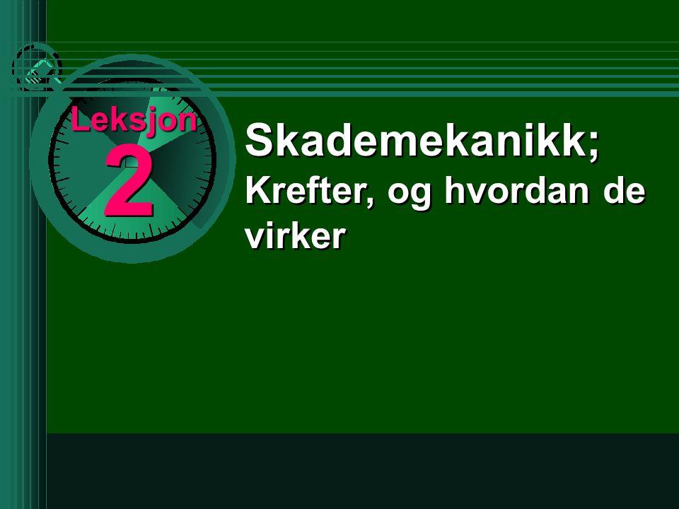 masse (kg) x hastighet (m/s) 2 2 Kinetisk Energi er : KE for en 70 kg person som kjører i 50 km/t (ca 15m/s) vil være: 70 x 15 x 15 2 = 7,875 tonn KE Kjell Otto, ambulanse Oslo