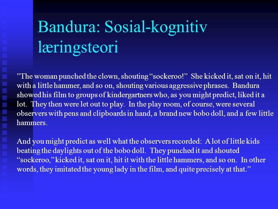 Bandura: Sosial-kognitiv læringsteori The Bobo-doll experiment