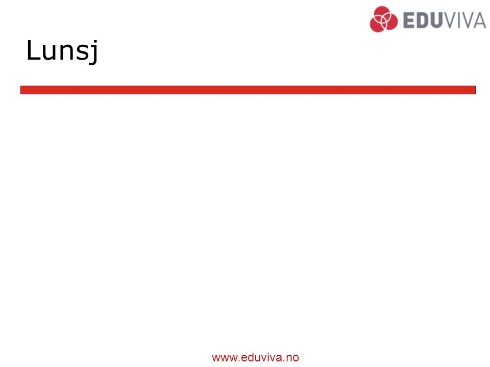www.eduviva.no Lunsj