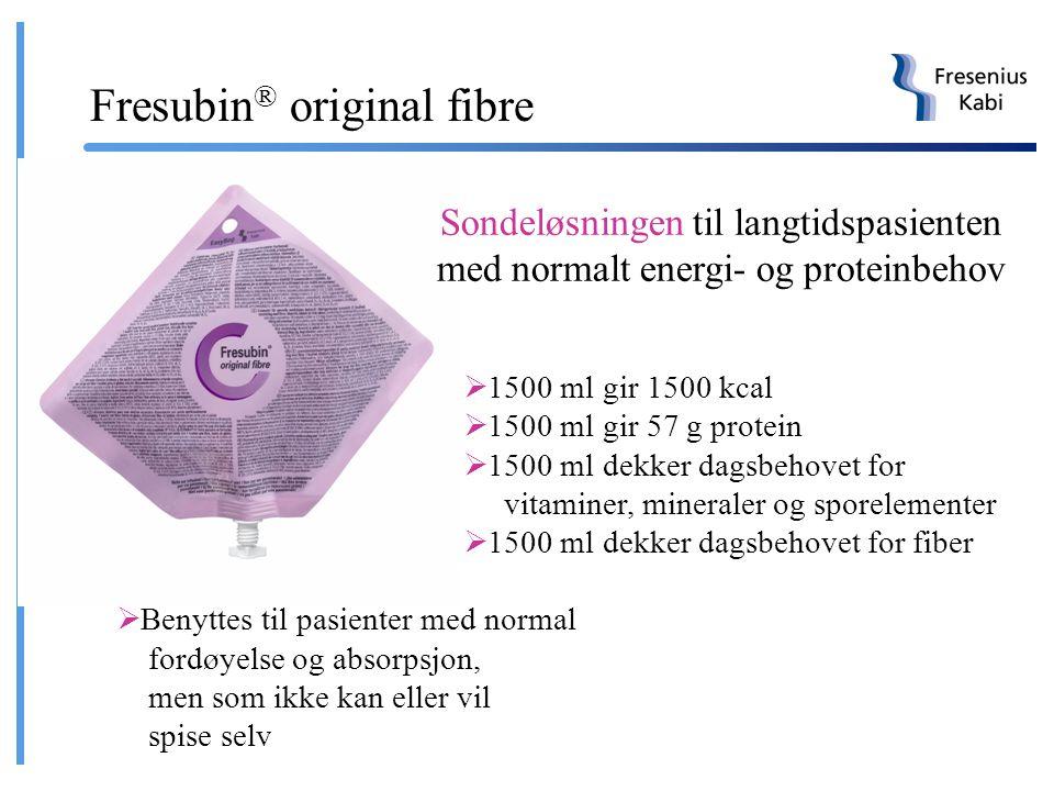 Ingen metabolske forstyrrelser Ingen malabsorbsjon Pasient Normalt kcal behov Metabolske forstyrrelser Alvorlig malabsorbsjon Høymolekylær standard di