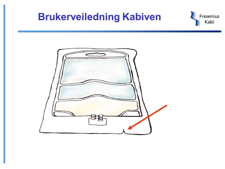 Kabiven 3-kammerpose Består av Vamin (aminosyrer), Intralipid (fett) og glukose med elektrolytter 4 størrelser til sentral bruk (Kabiven - 1230 mosm/k