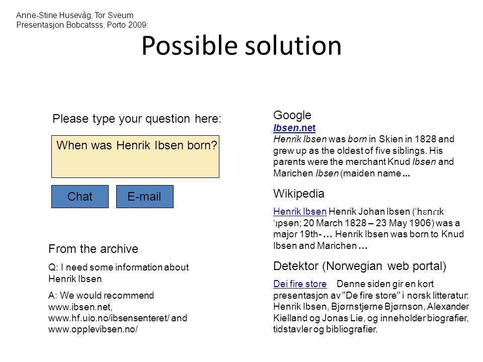 Possible solution Please type your question here: Google Ibsen.net Henrik Ibsen was born in Skien in 1828 and grew up as the oldest of five siblings.