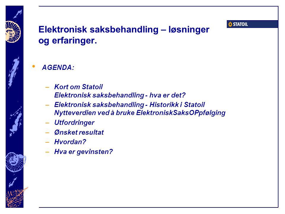 Kort om Statoil Ledende innen salg av bensin og oljeprodukter i Skandinavia Planlagt børsnotering 18.