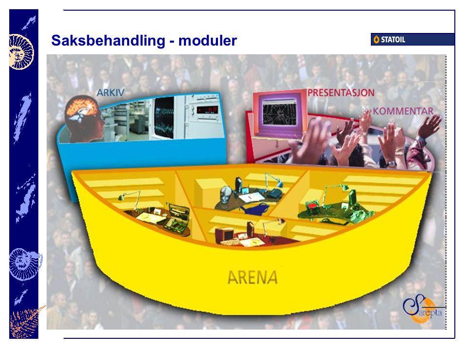 Dokumentflyt mellom modulene Utarbeides i Arena –evt.