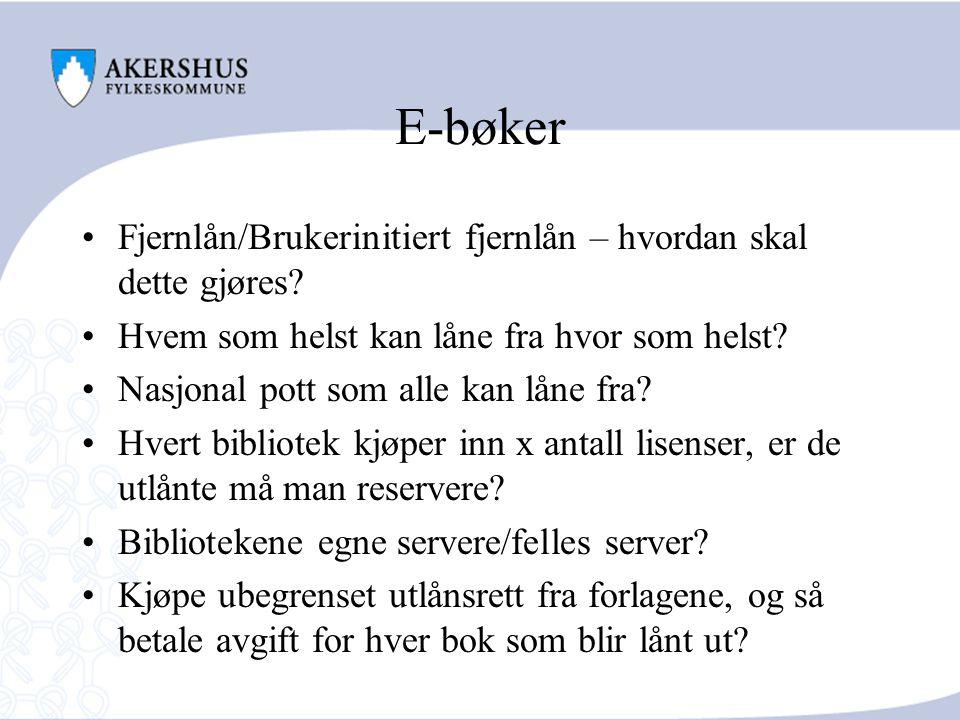 E-bøker Fjernlån/Brukerinitiert fjernlån – hvordan skal dette gjøres.