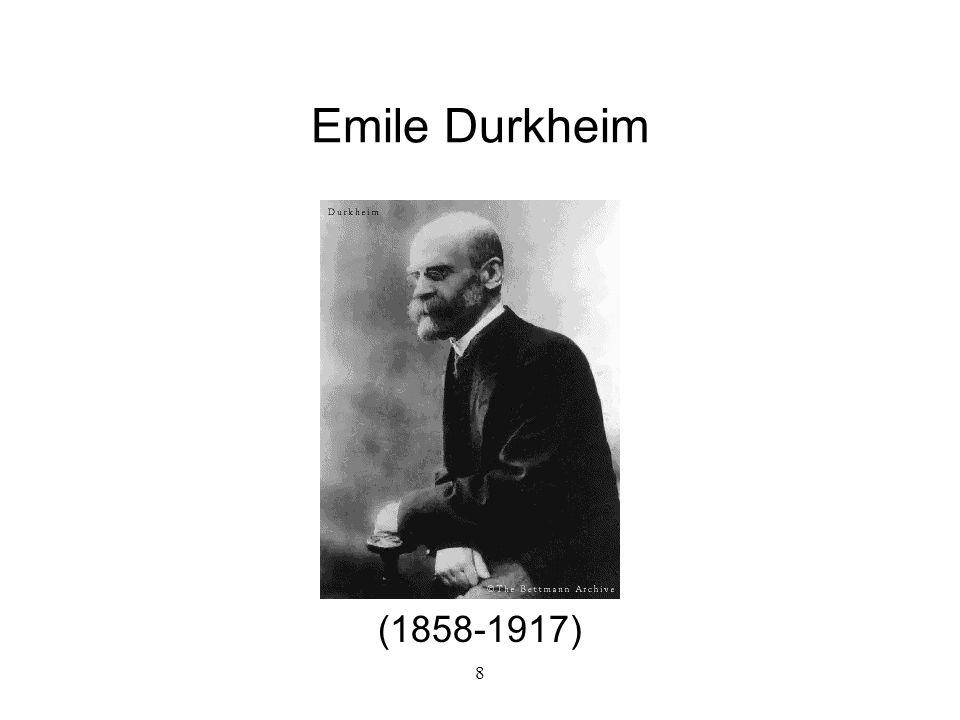 8 Emile Durkheim (1858-1917)