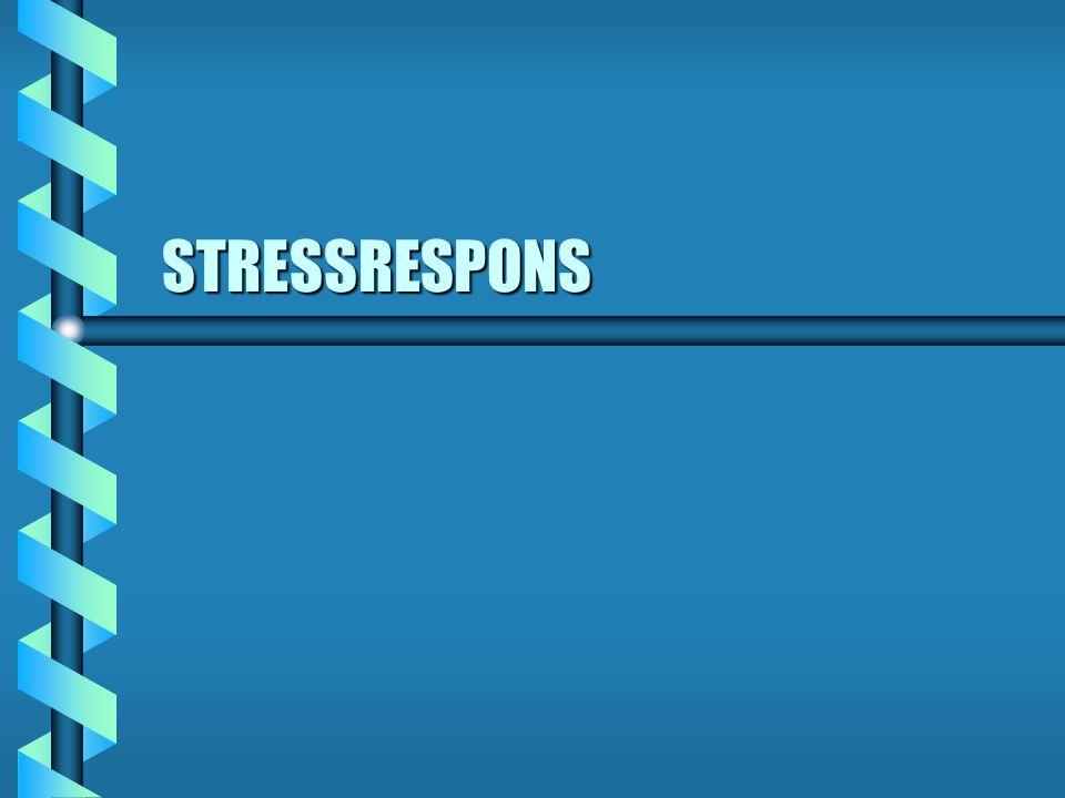 Psykologiske stressreaksjoner.