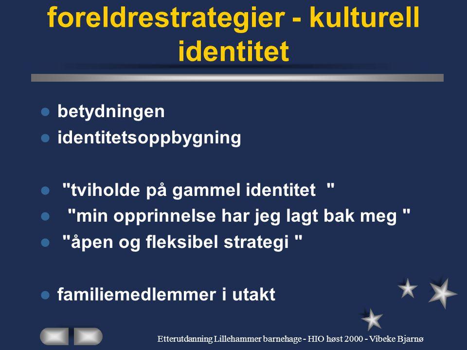 Etterutdanning Lillehammer barnehage - HIO høst 2000 - Vibeke Bjarnø Dagens moderne samfunn - mangel på