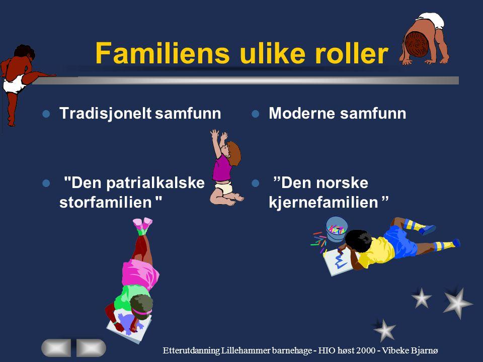 Etterutdanning Lillehammer barnehage - HIO høst 2000 - Vibeke Bjarnø Muslimske mødre setter ord på nordmenns utilgjengelighetsmarkering Problemstillin