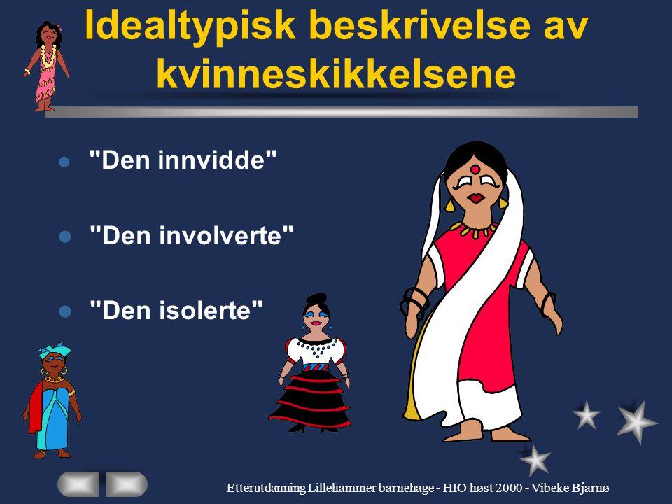 Etterutdanning Lillehammer barnehage - HIO høst 2000 - Vibeke Bjarnø Idelatyper Rendyrkede ytterpunkter for å tydeliggjøre poenger Ikke en gjenspeilin