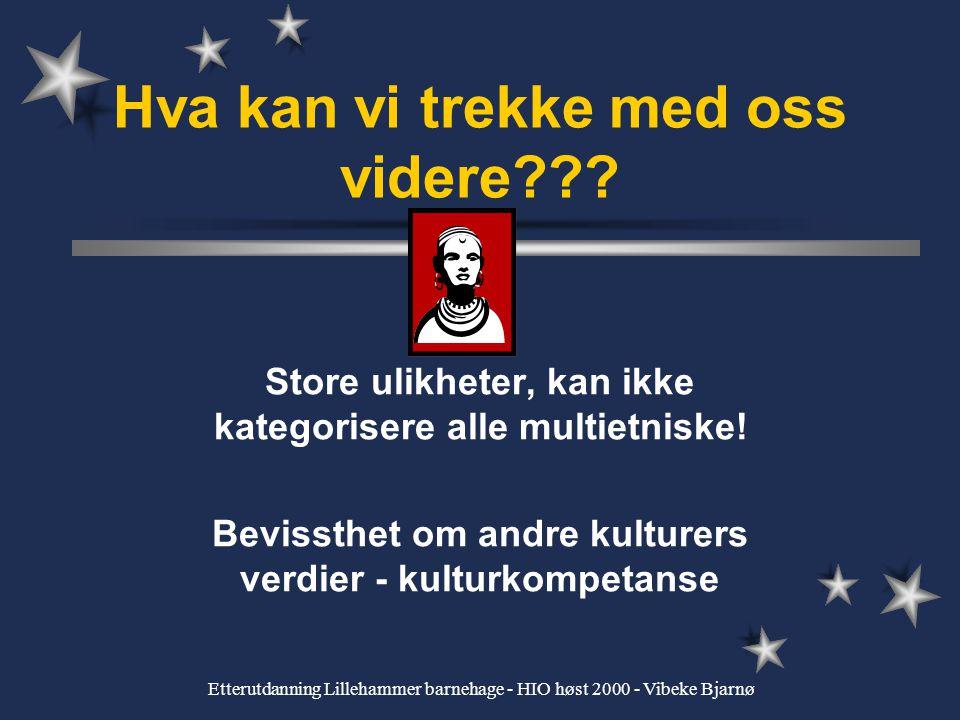 Etterutdanning Lillehammer barnehage - HIO høst 2000 - Vibeke Bjarnø Idealtypisk beskrivelse av kvinneskikkelsene