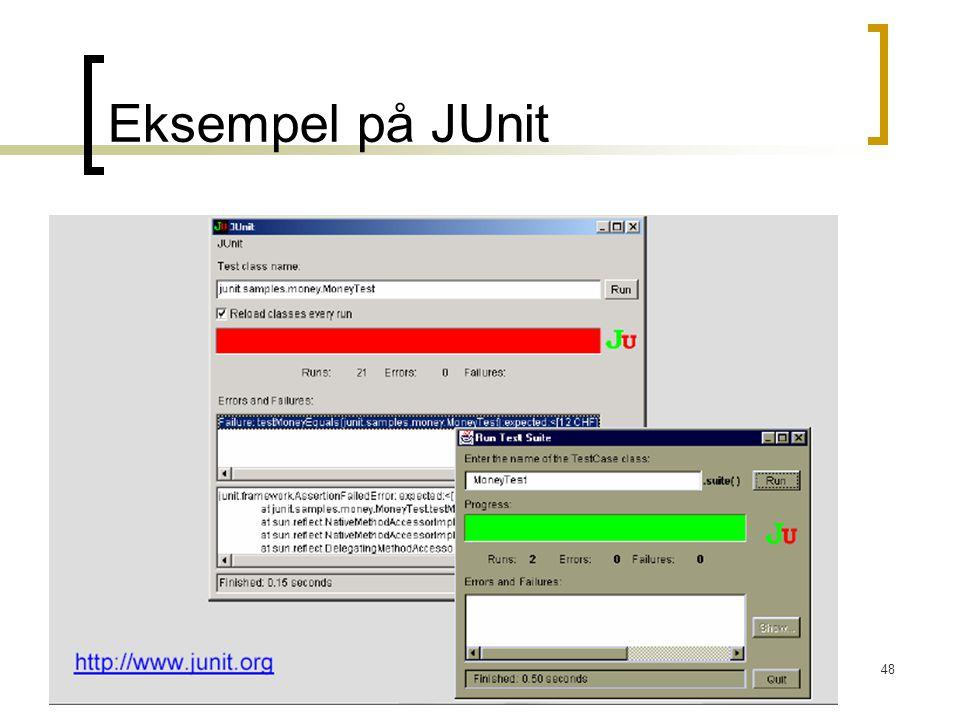 48 Eksempel på JUnit