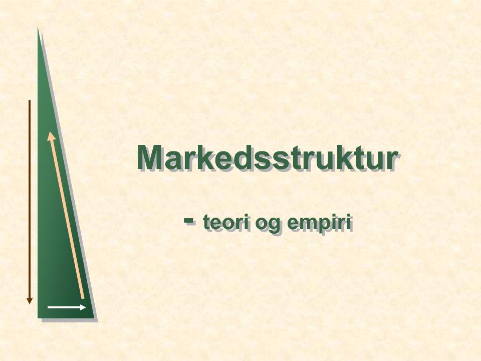 Markedsstruktur - teori og empiri Markedsstruktur - teori og empiri