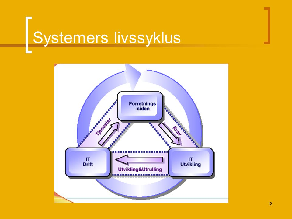 12 Systemers livssyklus