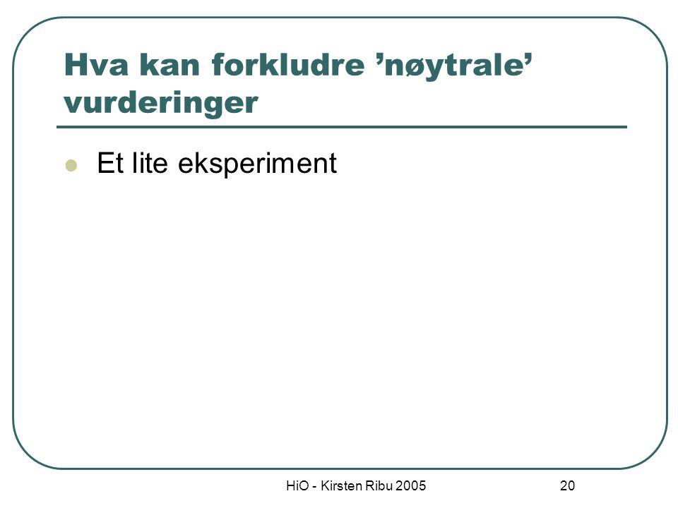 HiO - Kirsten Ribu 2005 21 'Anker'-effekten Eksempel 1: Lykkehjulet lander på 65.
