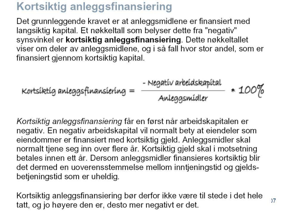 - © Aasbø/Praktisk regnskapsanalyse 107