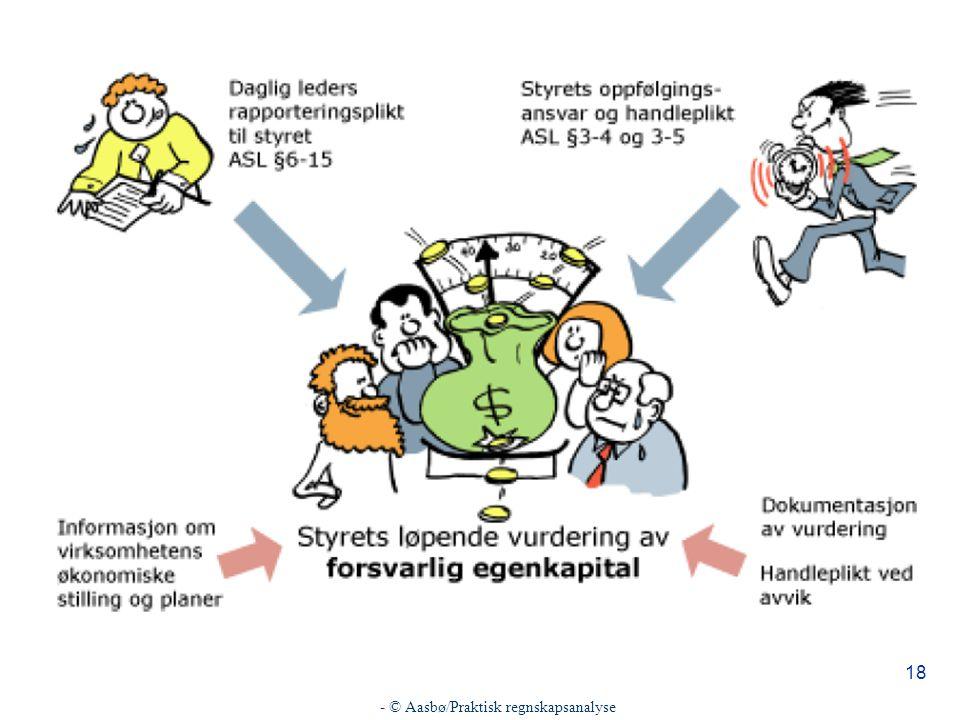 - © Aasbø/Praktisk regnskapsanalyse 18