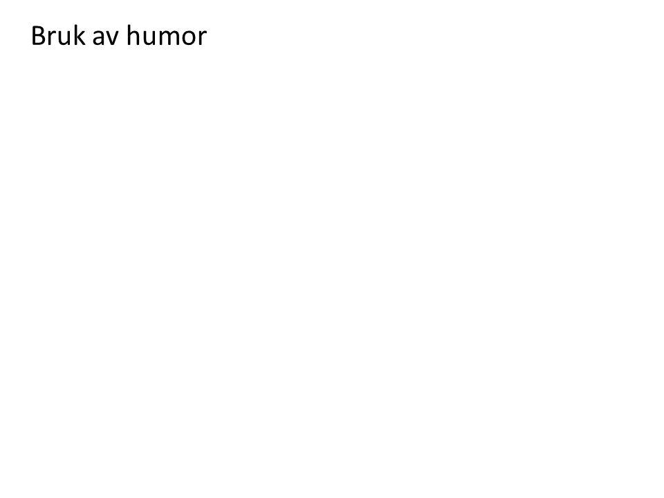 Bruk av humor