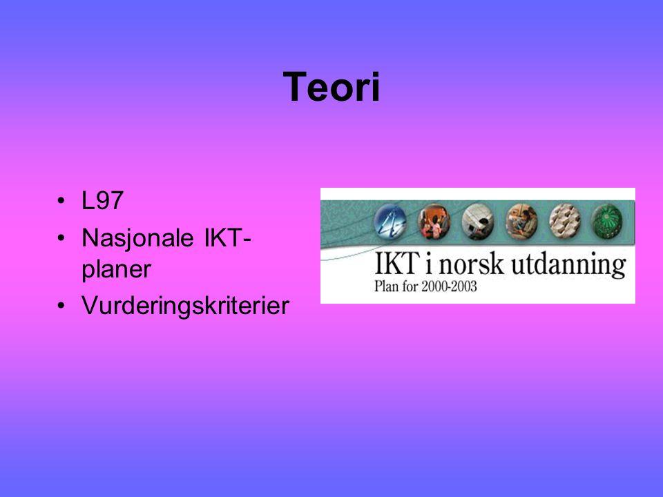 Teori L97 Nasjonale IKT- planer Vurderingskriterier