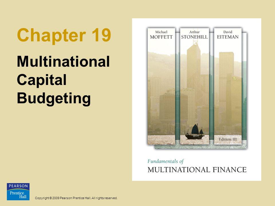 18-2 Multinasjonal investeringsanalyse Som ved tradisjonell investeringsanalyse, er målet å komme fram til en kontantstrøm i forbindelse med et tenkt prosjekt – Hva er investeringsutgiften.