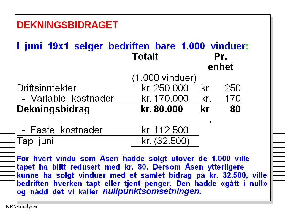 KRV-analyser DB FK kr (ev. stk) kr