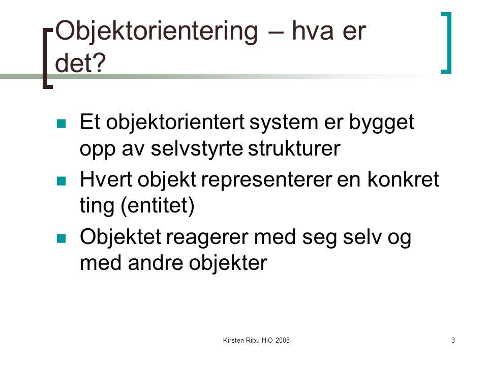Kirsten Ribu HiO 200524 Ordrebehandlingssystem Kravspesifikasjon: En bedrift ønsker et online ordresystem for å kunne selge produkter fra flere forhandlere.