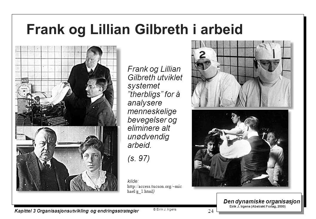 © Eirik J. Irgens Den dynamiske organisasjon Eirik J. Irgens (Abstrakt Forlag, 2000) Kapittel 3 Organisasjonsutvikling og endringsstrategier 24 Frank