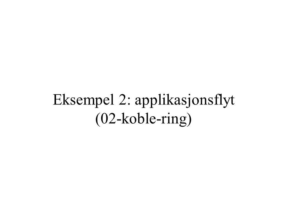 Eksempel 2: applikasjonsflyt (02-koble-ring)