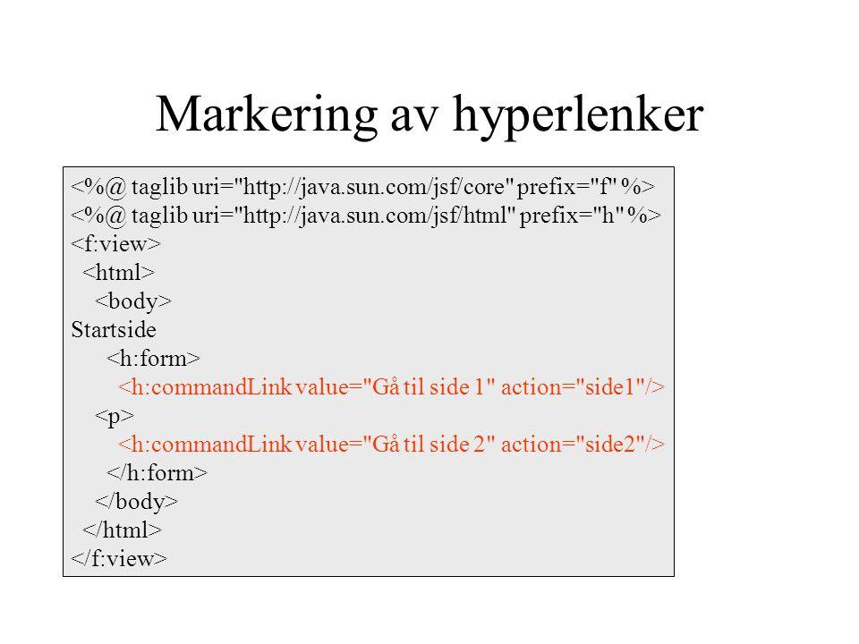 Markering av hyperlenker Startside