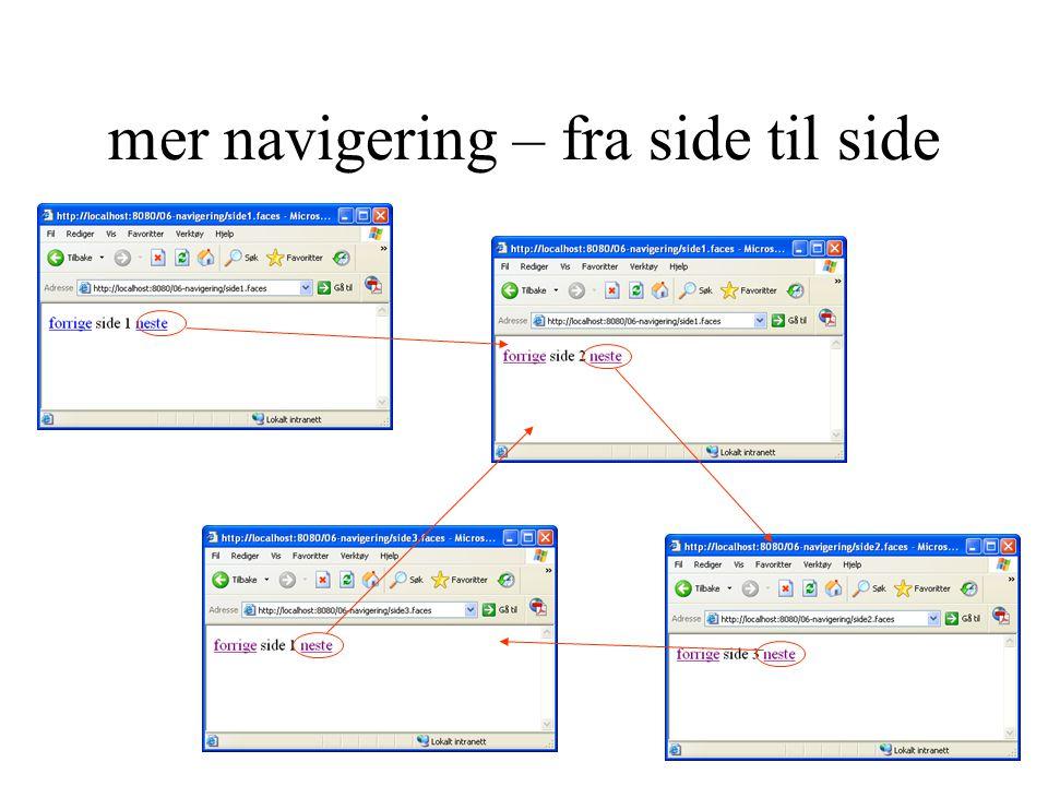mer navigering – fra side til side