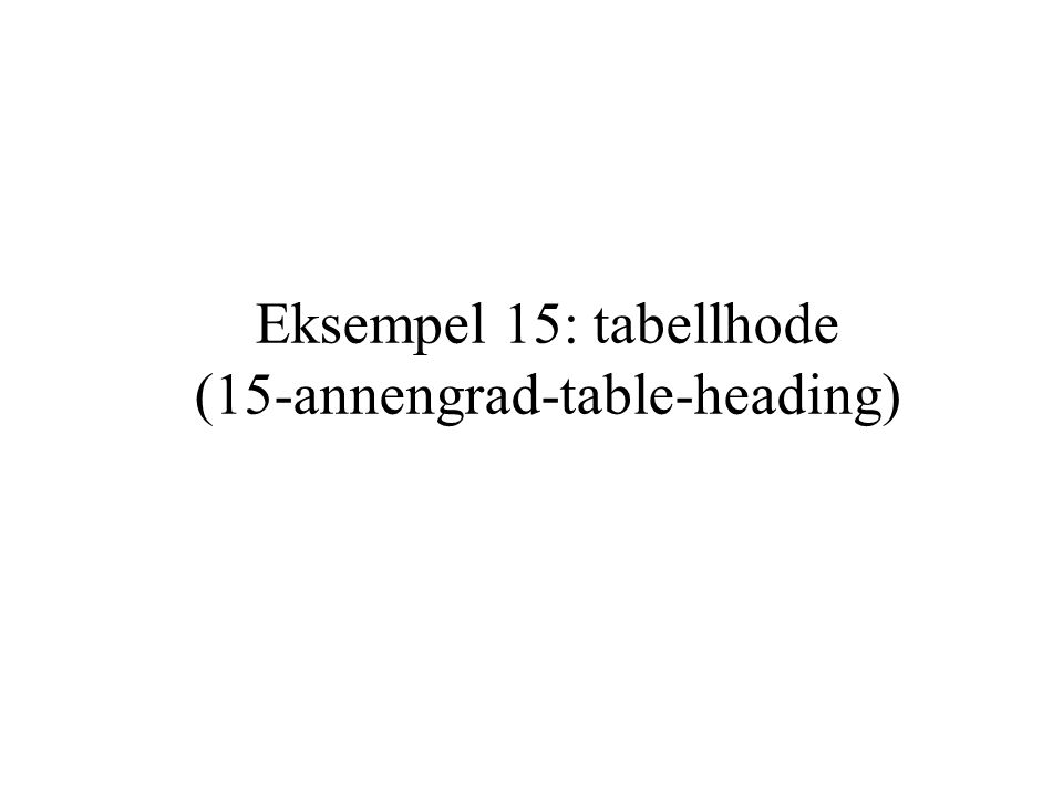 Eksempel 15: tabellhode (15-annengrad-table-heading)