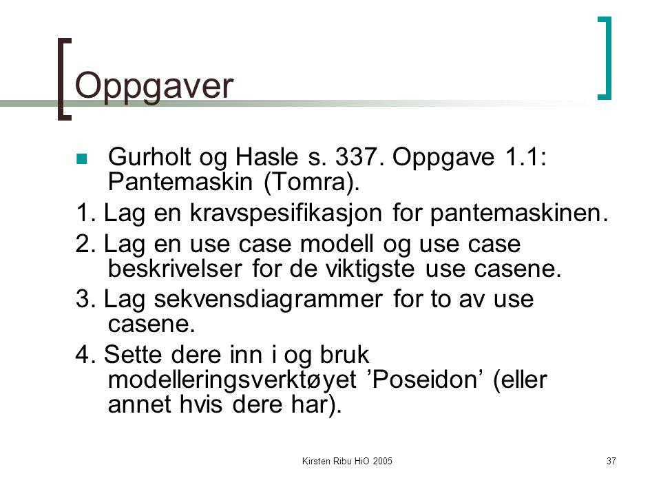 Kirsten Ribu HiO 200537 Oppgaver Gurholt og Hasle s.